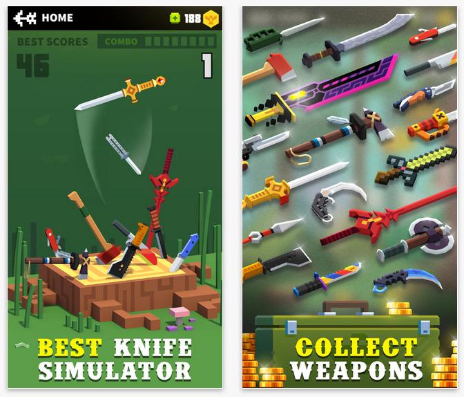 Flippy Knife, el juego en el que vuelan los cuchillos