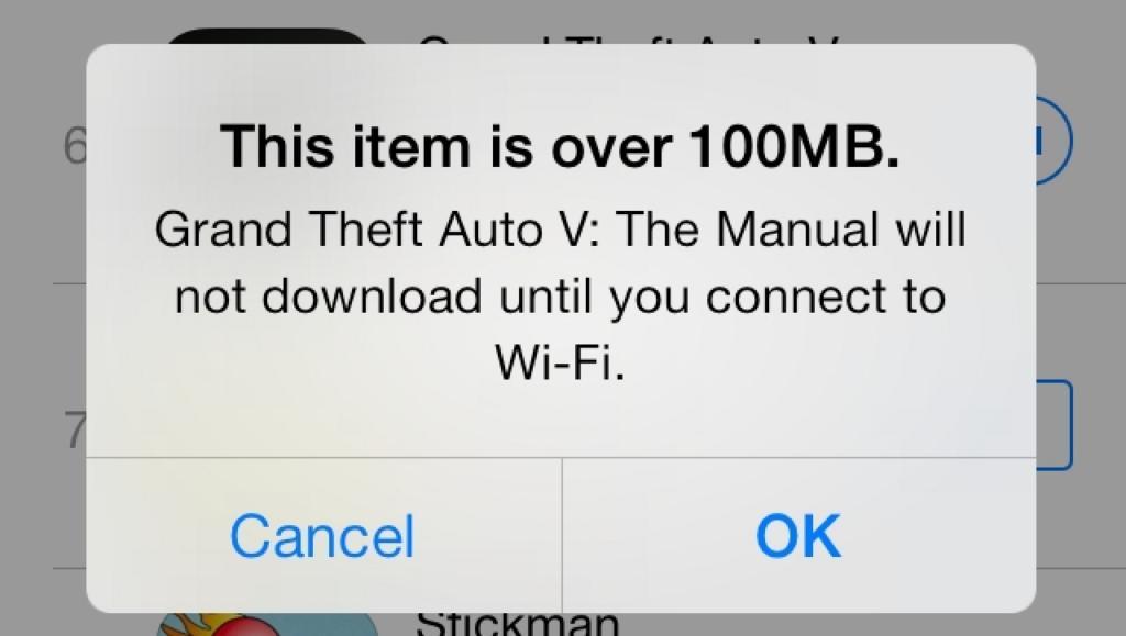 Apple aumenta el límite de descarga por red móvil desde la App Store a 150 Mb