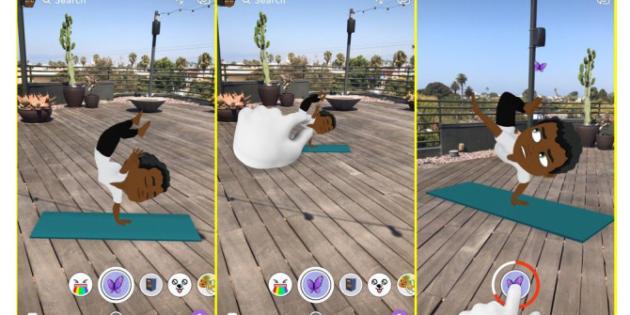 Snapchat ya permite incluir caracteres de Bitmoji en el mundo real