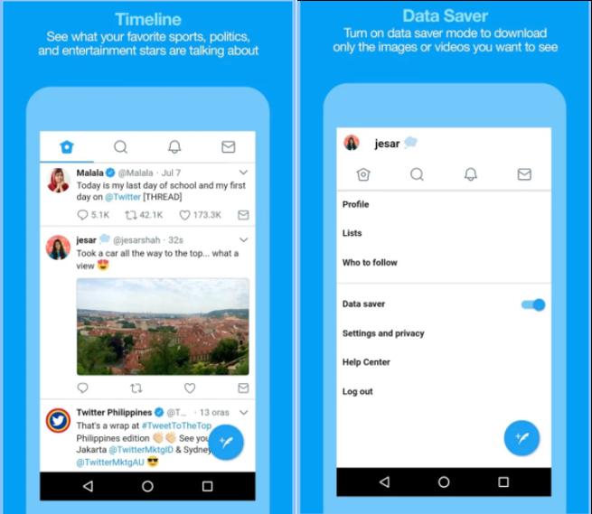Twitter está probando una versión Lite de su app