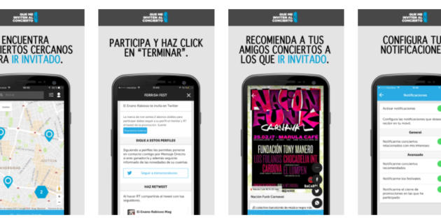 Una app te permite conseguir invitaciones para conciertos