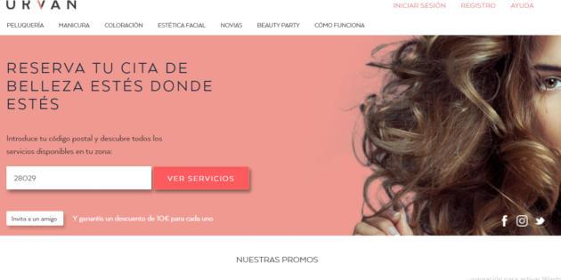 Urvan, una nueva herramienta para reservar servicios de belleza a domicilio