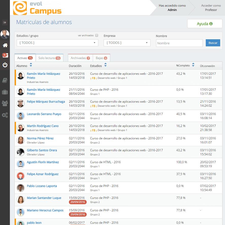 EvolCampus, la mejor plataforma e-learning