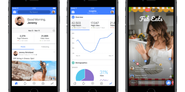 Facebook hace un guiño a los creadores audiovisuales con Creator App