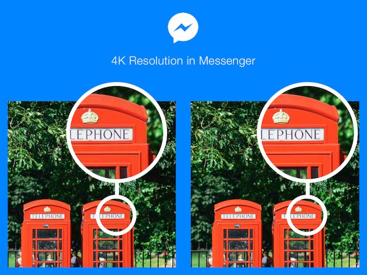 Facebook Messenger comienza a soportar el envío de fotos en 4K