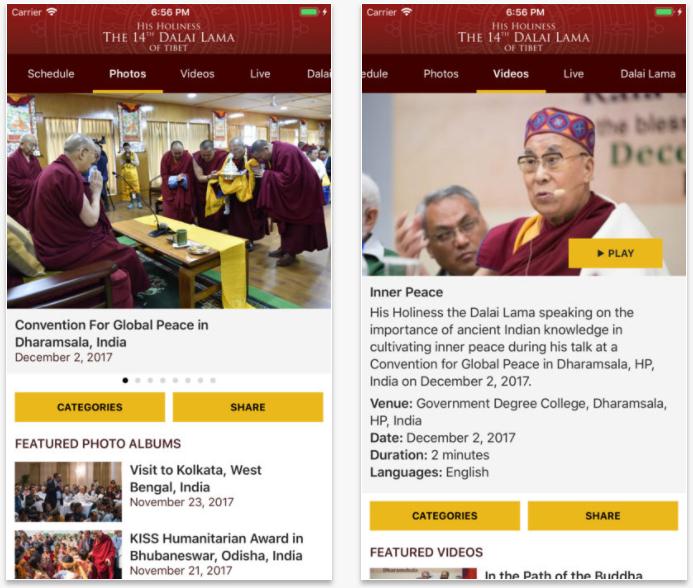 El Dalai Lama ya tiene su propia app