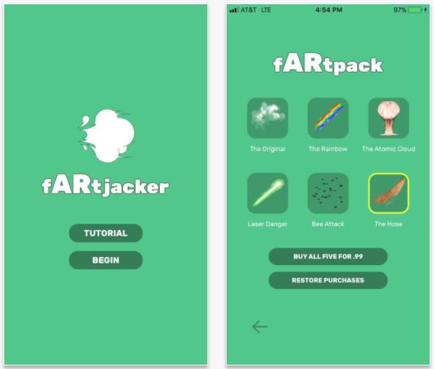 fARTjacker, una app para emular flatulencias en realidad aumentada
