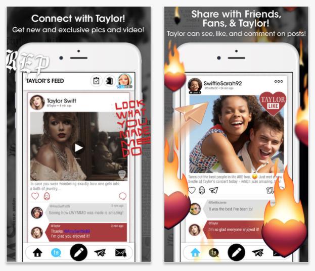 Taylor Swift también se pasa al mundo de las apps