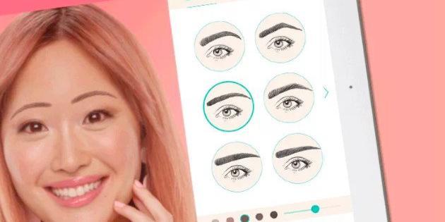 Una app de realidad aumentada permite simular cambios de look en las cejas