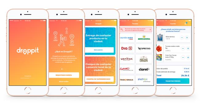 Droppit, una app para recibir la compra del super en el coche