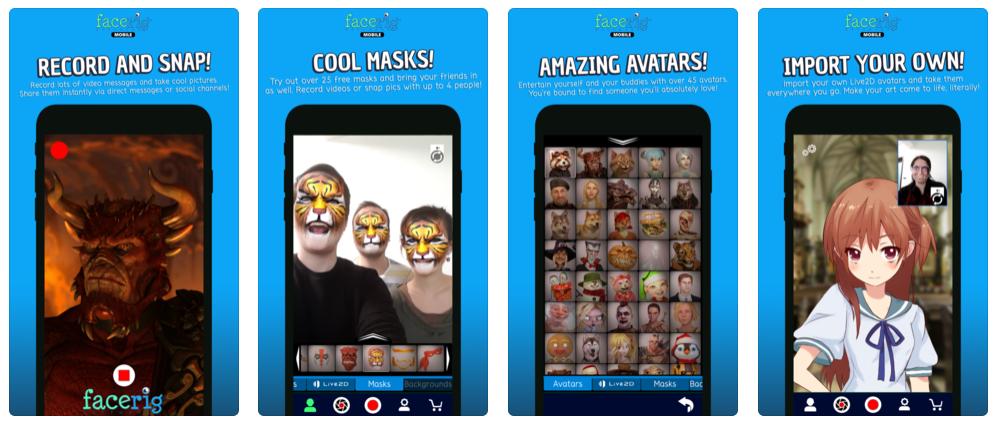 FaceRig, la app que te permite controlar un avatar con reconocimiento facial