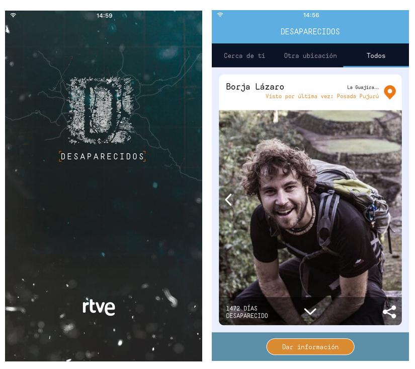 Desaparecidos, la app del programa de TVE para encontrar