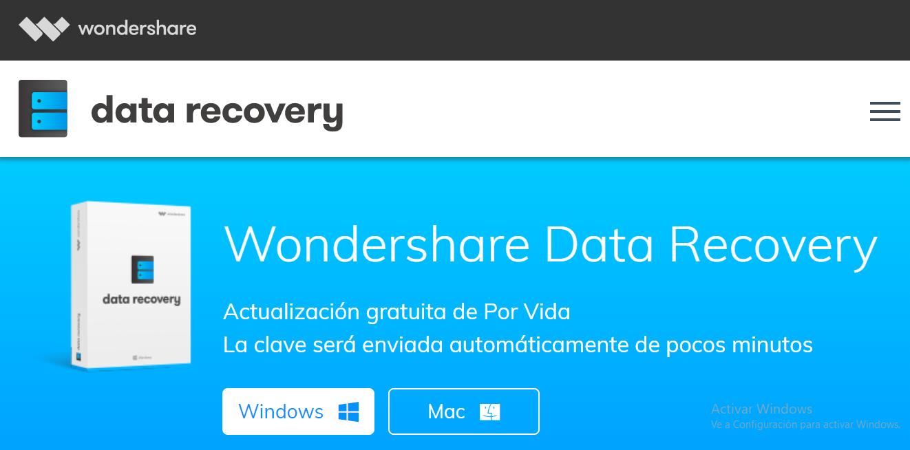 Recupera los datos de tu tarjeta SD con Wondershare Data Recovery