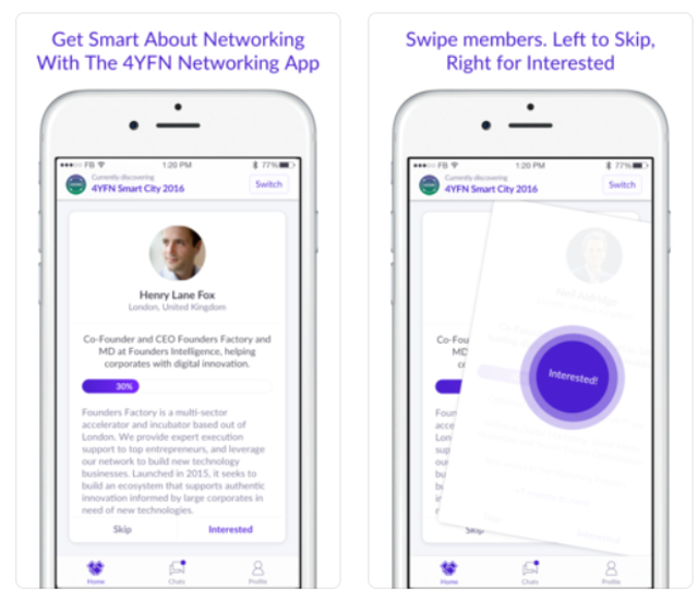 4YFN Networking, la app para cerrar reuniones con emprendedores e inversores durante 4YFN