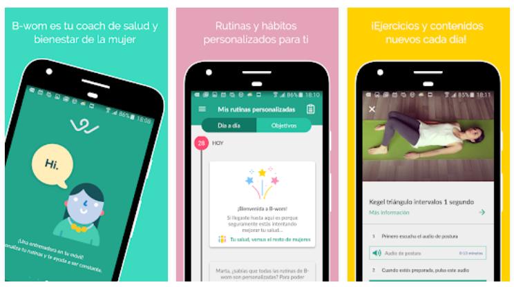 B-Wom, la primera app para cuidar la salud íntima femenina y el suelo pélvico