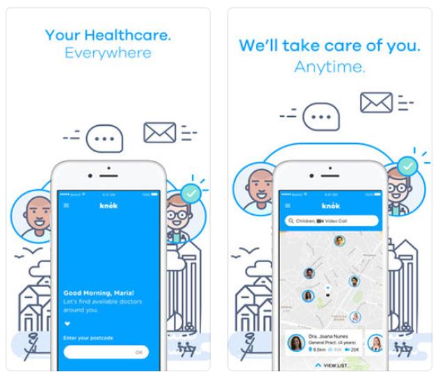 La app para videoconsultas y visitas médicas Knok aterriza en España