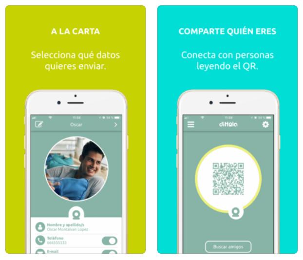 DiHola te permite guardar datos de contactos con solo un toque