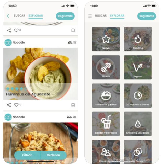 Nooddle, la app a la que le das dos ingredientes y te dice qué plato puedes cocinar