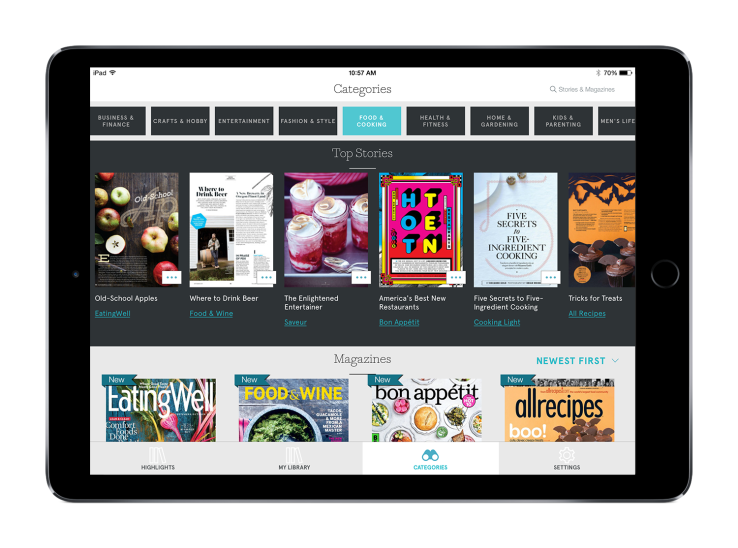 Apple adquire Texture, una app de lectura de revistas para el iPhone