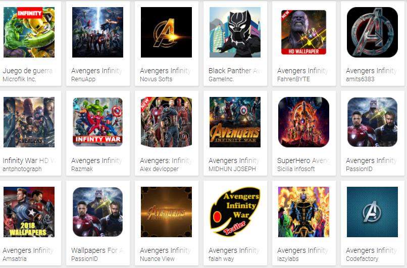 Google Play se llena de juegos falsos de Vengadores: Infinity War