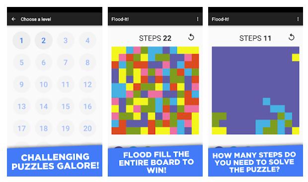 Flood It, el juego que te deja a cuadros y te saca los colores