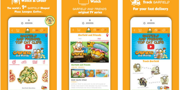 GarfieldEATS, la app con la que puedes recibir comida temática de Garfield a domicilio
