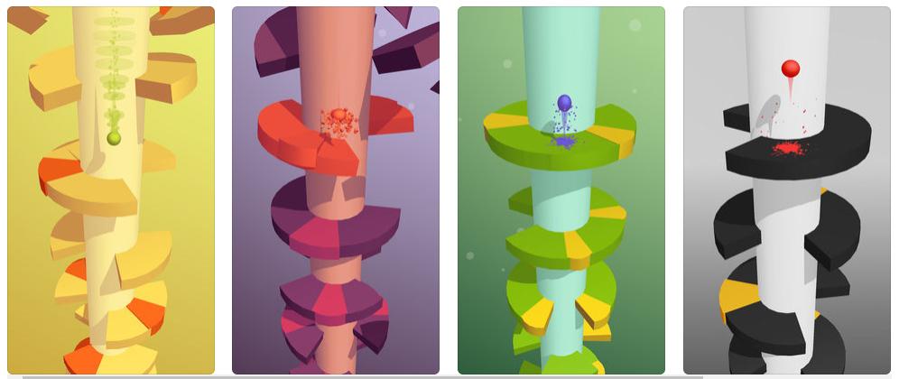 Helix Jump, el juego donde no se te tiene que ir la bola