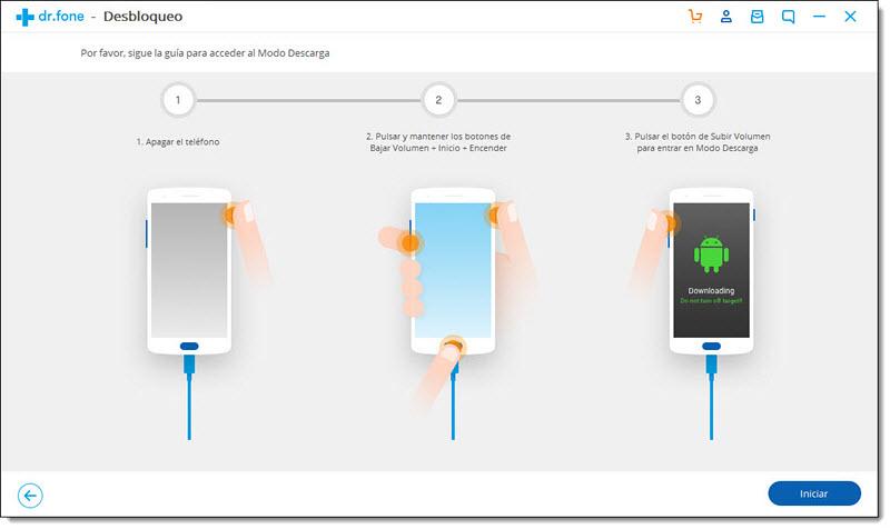 Dr. fone te permite desbloquear tu smartphone iOS o Android sin contraseña
