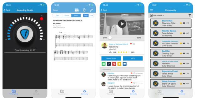 Frettable convierte cada melodía en las notas de una partitura