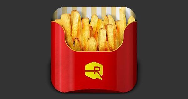 ¿Y si las comidas más famosas fueran iconos de apps?