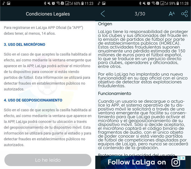 LaLiga admite usar su app para espiar a los bares que ponen partidos piratas