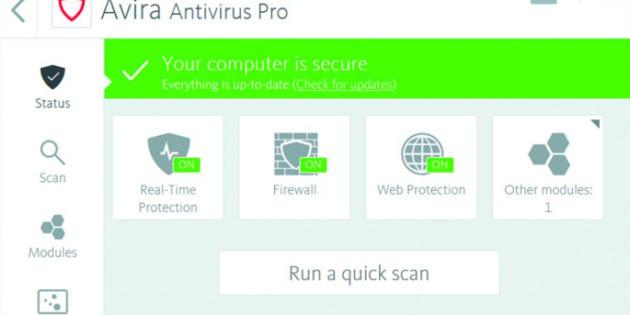 Análisis de Avira Antivirus Pro 2018: Un rendimiento potente y rápido