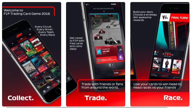 La Fórmula 1 ya cuenta con su primer juego móvil de cartas coleccionables: F1 Trading Card Game