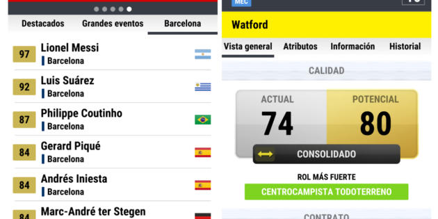 Ya disponible FMdB, la mayor base de datos del fútbol
