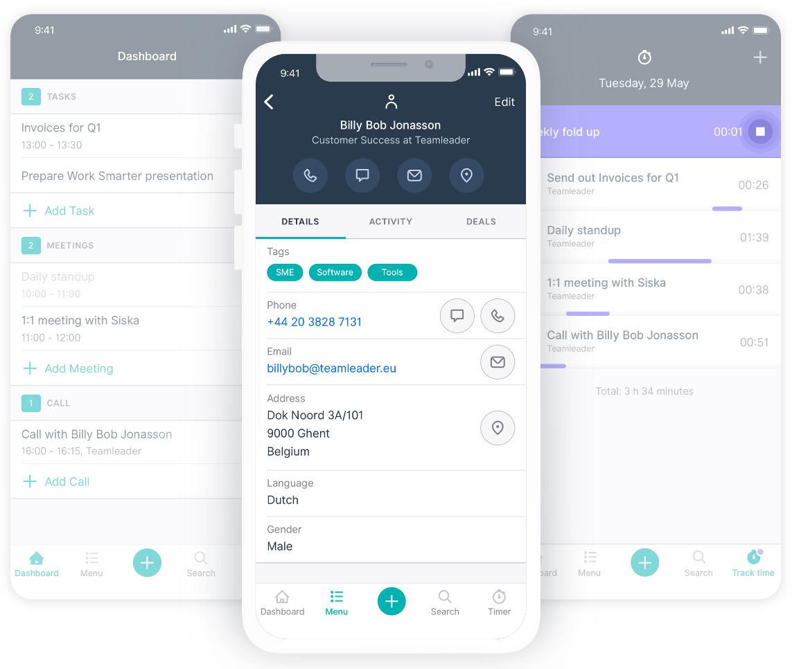 Teamleader renueva su aplicación móvil