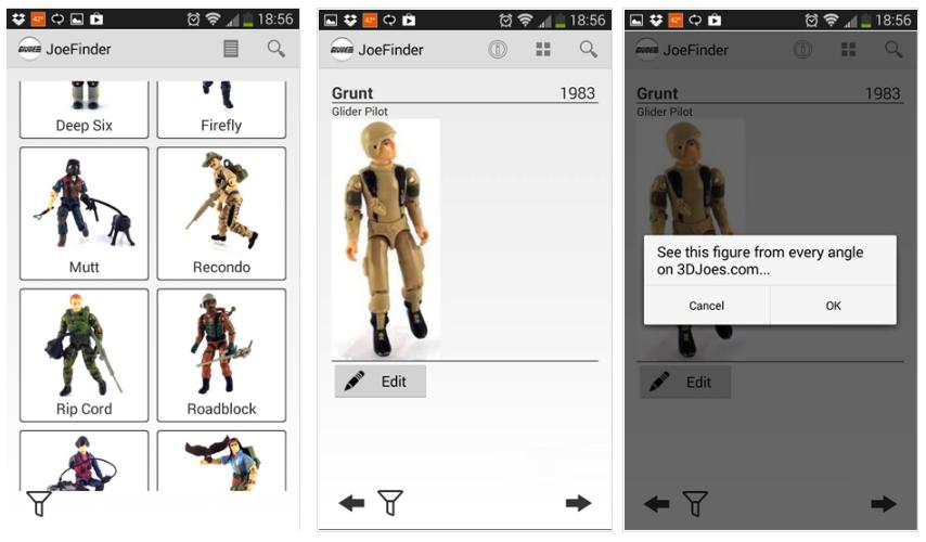 JoeFinder, la app para organizar tu colección de muñecos GIJoe