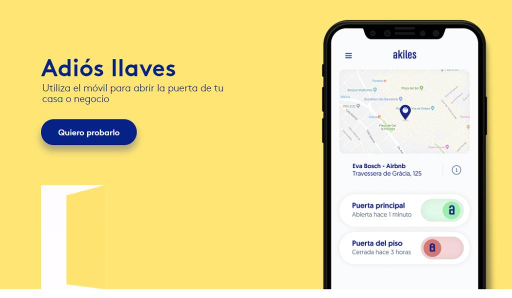 La startup que sustituye las llaves por el móvil Akiles cierra una ronda de financiación de 600.000 euros