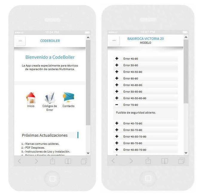 La reparación de calderas es posible a través de las apps
