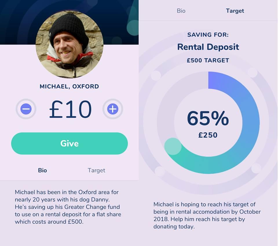 Greater Change, la app que ayuda a los sin techo a conseguir dinero para cumplir sus objetivos