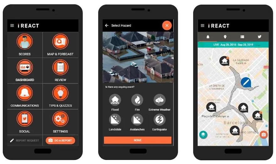 Una nueva app protege a los ciudadanos de desastres naturales y les permite informar sobre ellos