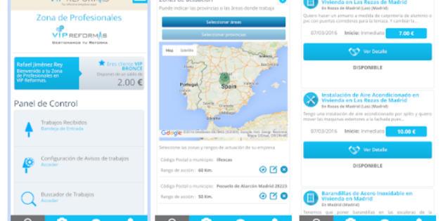 Vip Reformas lanza una app para profesionales