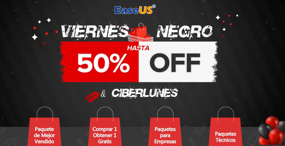 EaseUS ofrece descuentos de hasta el 50 por ciento en el Black Friday
