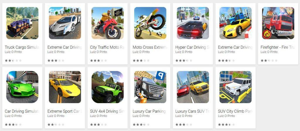 Descubiertos 13 juegos de coches con malware en Google Play