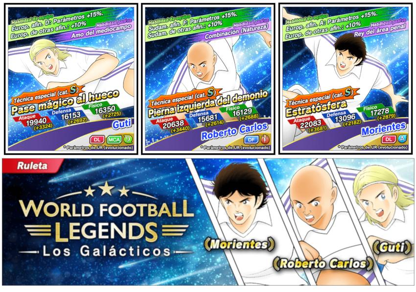 Guti, Roberto Carlos y Morientes se ven las caras con Oliver y Benji en Captain Tsubasa: Dream Team