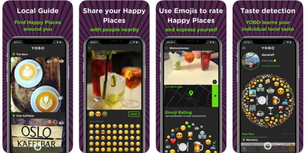 Yobo, la app para dejar reseñas de lugares a base de emojis