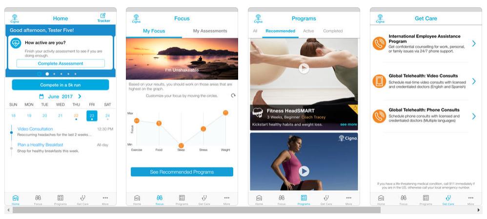 Cigna presenta Cigna Wellbeing App, una app de telemedicina y consejos médicos