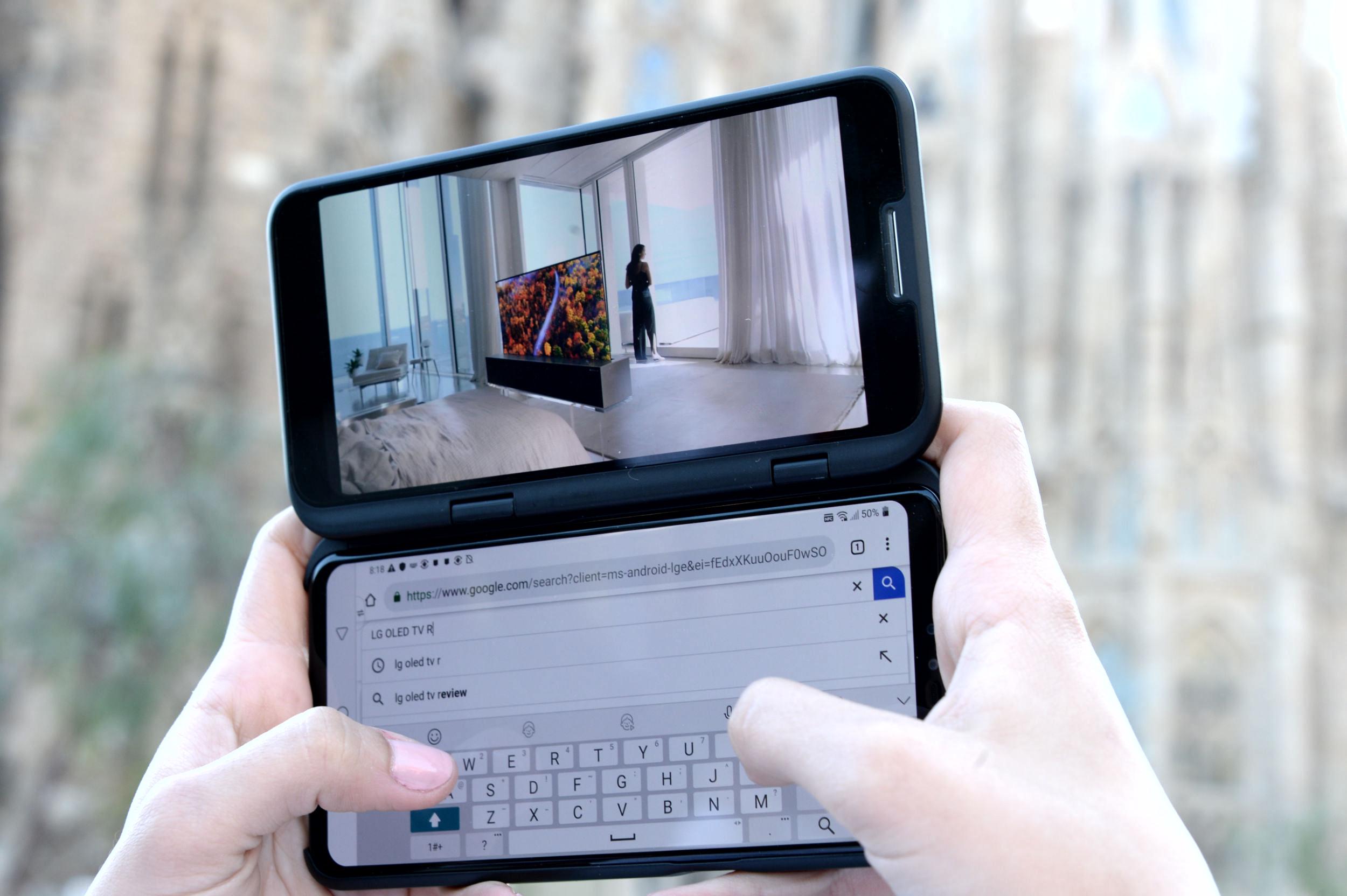 LG apuesta por el 5G y la doble pantalla externa con el LG V50 ThinQ