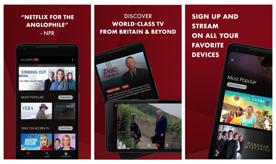 Acorn TV, ya disponible para los usuarios de Android