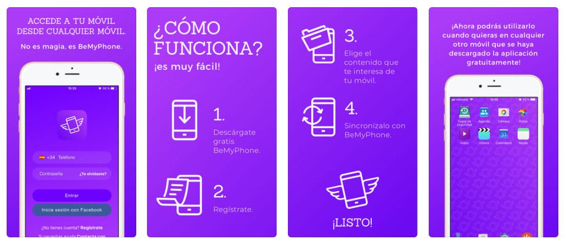 Con BeMyPhone puedes entrar en tu móvil desde cualquier otro móvil