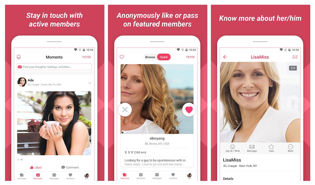 Cougar Dating Life, la app de citas que empareja a maduritas con yogurines